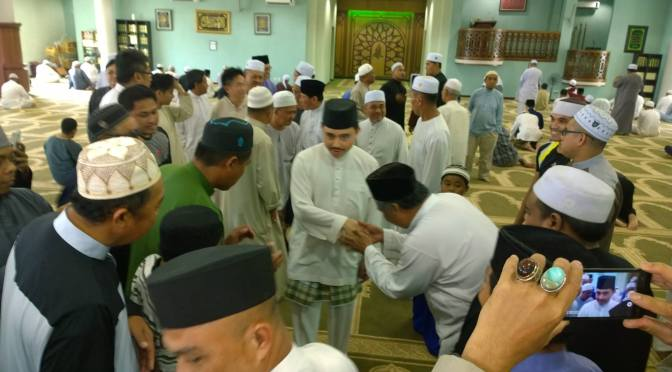 Prince Abdul Malik at Kg Katok Mosque
